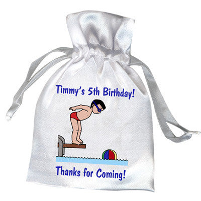 Pool or Swimming Favor Bag - Boy