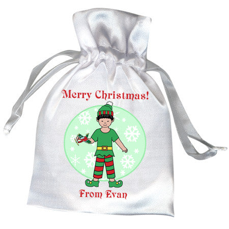 Elf Boy Christmas Favor Bag