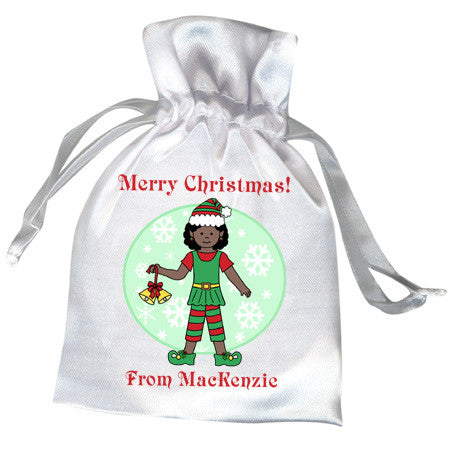 Elf Girl Christmas Favor Bag