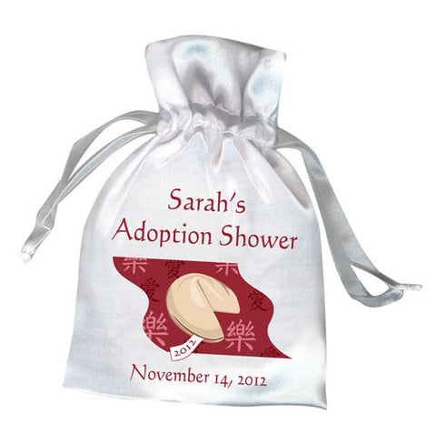 Fortune Cookie Adoption Shower Favor Bag