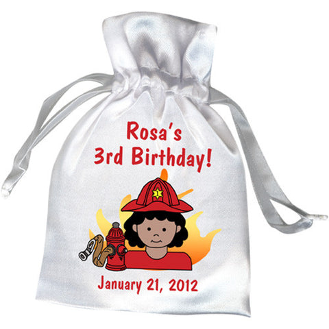 Firefighter Party Favor Bag - Girl