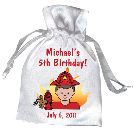 Firefighter Party Favor Bag - Boy