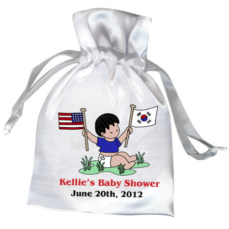 Flag Baby Boy Adoption Shower Favor Bag (20 countries)