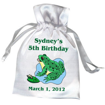 Frog Birthday Party Favor Bag