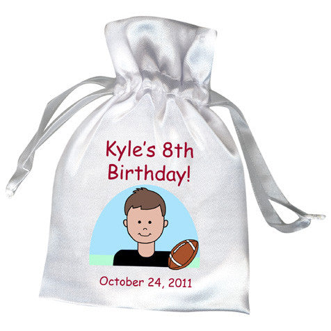 Football Boy Party Favor Bag