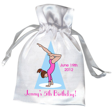 Gymnastics Girl Birthday Party Favor Bag - Handstand