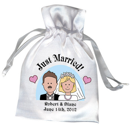 Happy Couple Wedding or Bridal Shower Favor Bag