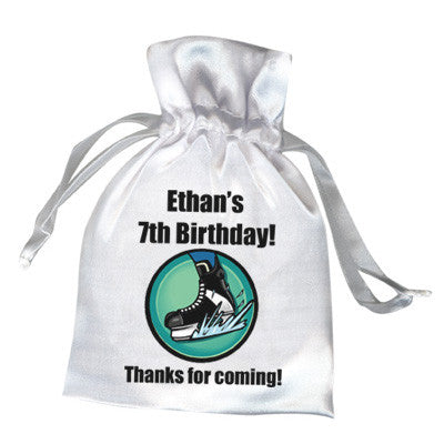 Hockey Skate Party Favor Bag