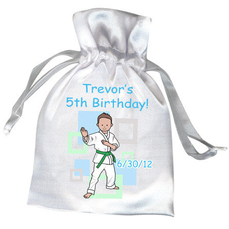 Martial Arts or Karate Kid Favor Bag - Boy
