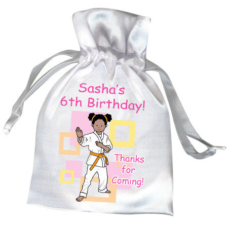 Martial Arts or Karate Kid Favor Bag - Girl