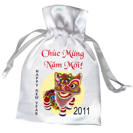Lion Dancer Favor Bag