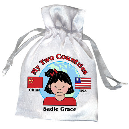 My Two Countries Adoption Party Favor Bag