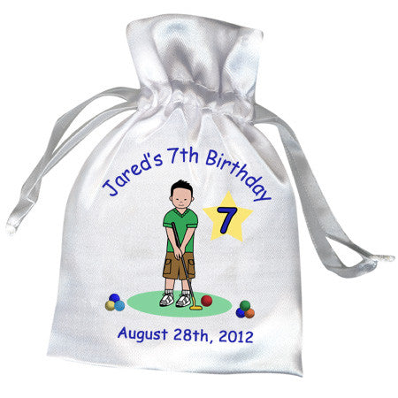 Mini Golf Favor Bag (Design 2) - Boy