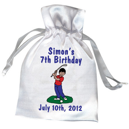 Mini Golf Favor Bag - Boy