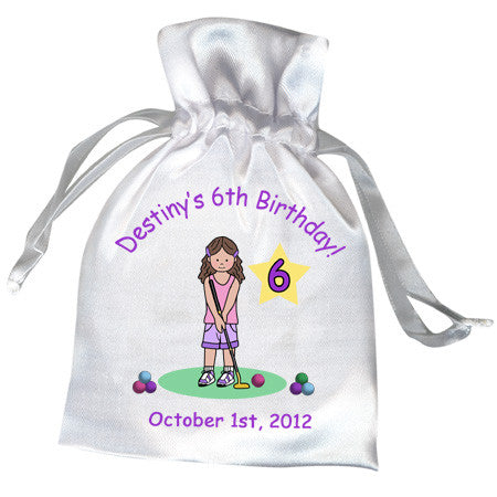 Mini Golf Favor Bag (Design 2) - Girl