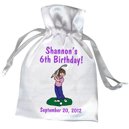 Mini Golf Favor Bag - Girl