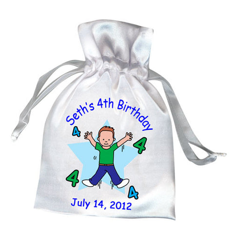Number Birthday Favor Bag - Boy