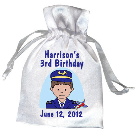 Airplane Pilot Party Favor Bag