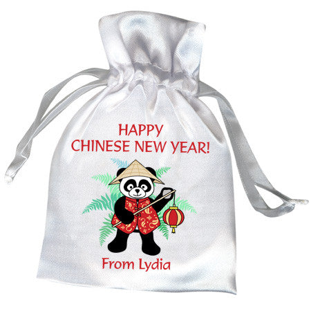 Asian Lantern Panda Favor Bag