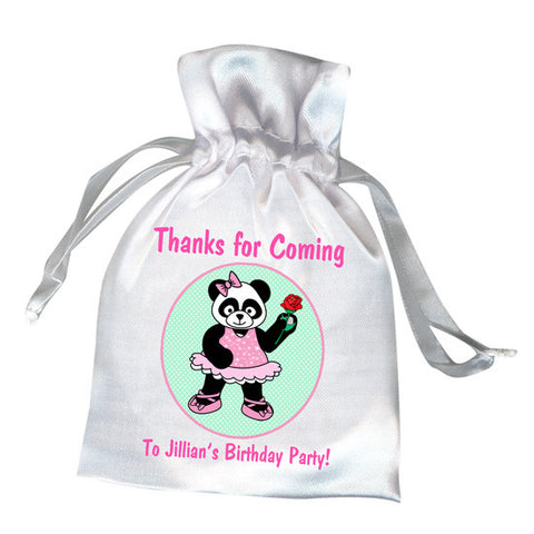 Ballet or Dance Favor Bag - Panda Ballerina