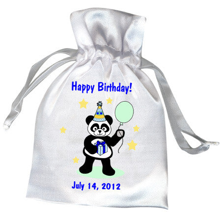Birthday Party Panda Favor Bag - Boy