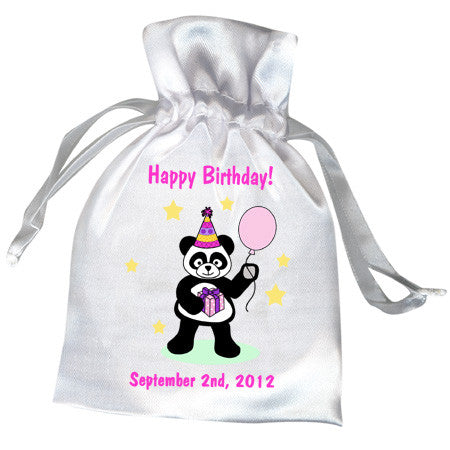 Birthday Party Panda Favor Bag - Girl