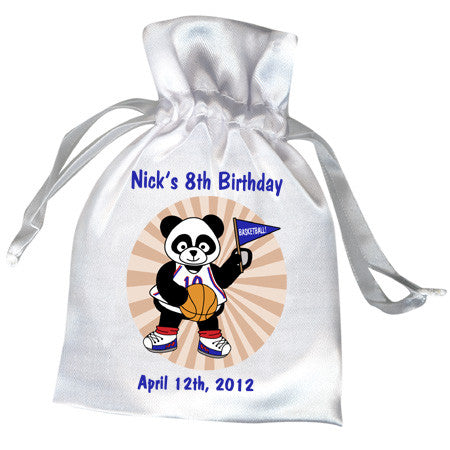Basketball Panda Party Favor Bag