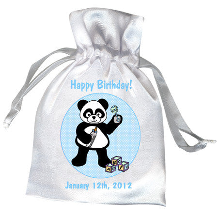 Baby Panda Party Favor Bag - Boy