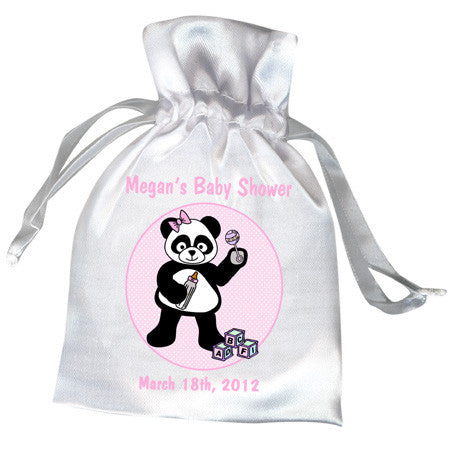 Baby Panda Party Favor Bag - Girl