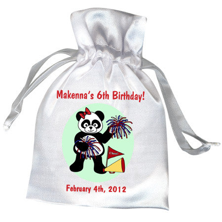 Cheerleader Panda Party Favor Bag