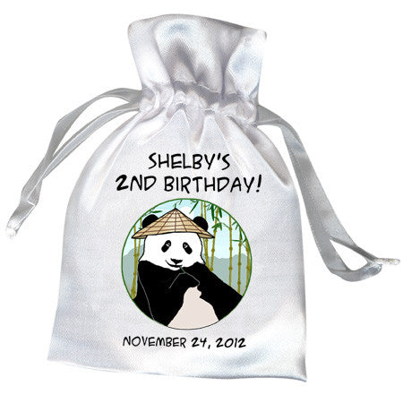 Panda with Cone Hat Party Favor bag