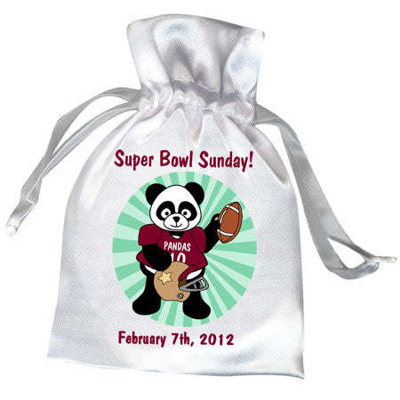 Football Panda Party Favor Bag