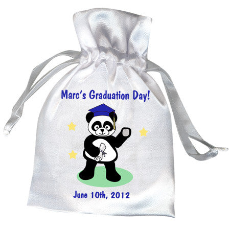 Graduation Panda Party Favor Bag