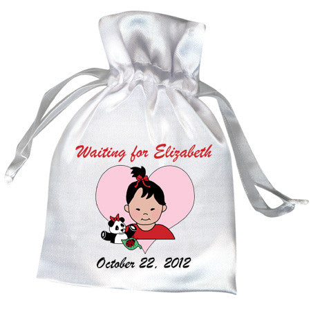 Panda Girl Adoption Shower Favor Bag