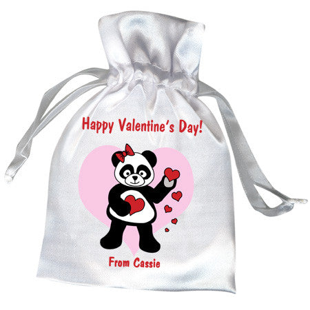 Love Panda Valentines Party Favor Bag