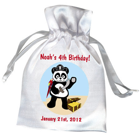 Pirate Panda Birthday Party Favor Bag