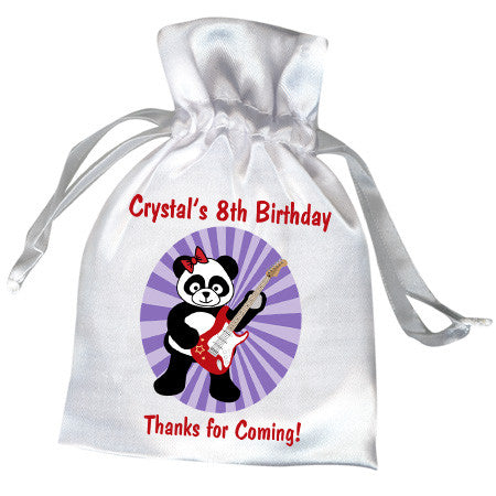 Rockin' Panda Birthday Party Favor Bag