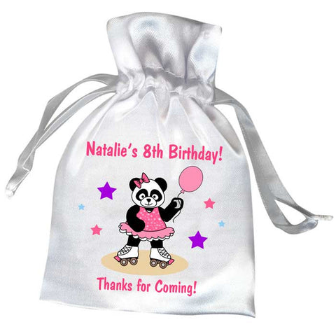 Roller Skating Panda Birthday Party Favor Bag