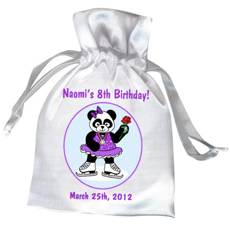 Ice Skating Panda Birthday Party Favor Bag