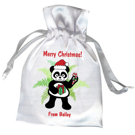 Santa Panda Christmas Party Favor Bag
