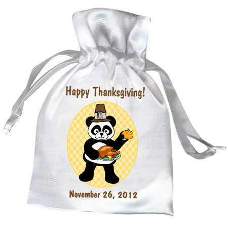 Thanksgiving Panda Party Favor Bag