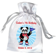 Volleyball Panda Personalized Party Favor Bag - Boy