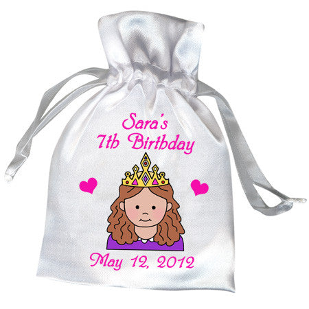 Princess Birthday Party Favor Bag