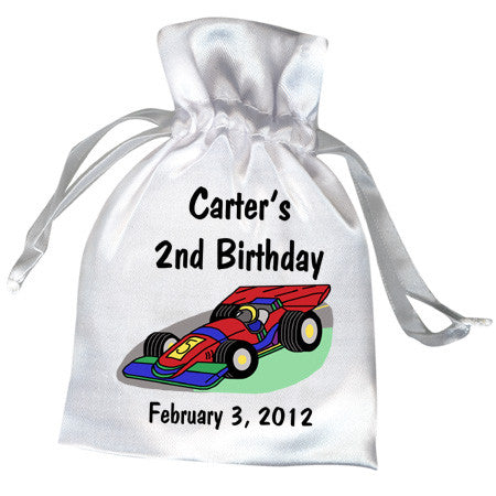 Race Car Birthday Party Favor Bag