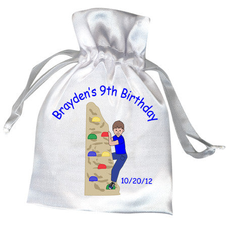 Rock Climbing Birthday Party Favor Bag
