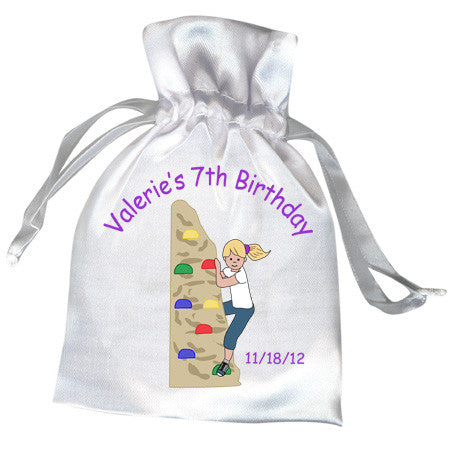 Rock Climbing Birthday Party Favor Bag -Girl