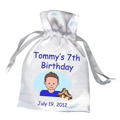 Roller Skating Kid Birthday Party Favor Bag - Boy