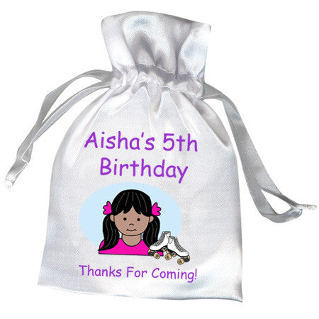 Roller Skating Kid Birthday Party Favor Bag - Girl