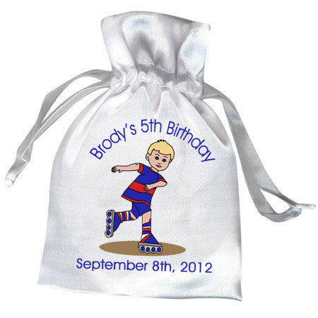 Roller Skating  Birthday Party Favor Bag - Boy