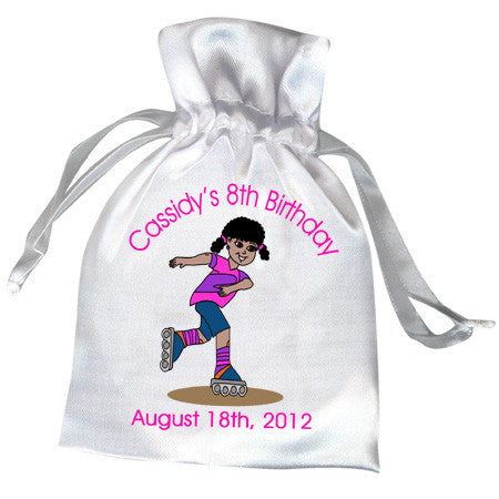 Roller Skating Birthday Party Favor Bag - Girl